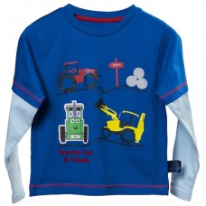 Tractor Ted Farmyard Tee L/S Royal 4/5